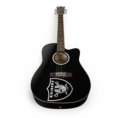 """Woodrow Las Vegas Raiders Acoustic Guitar"""