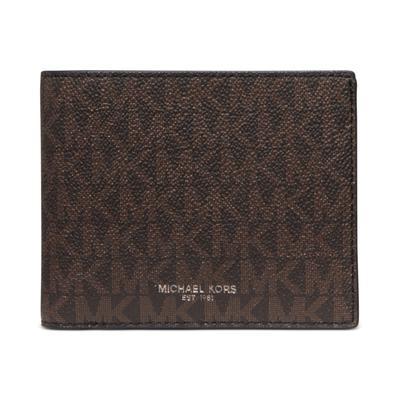 Michael Kors Men's Greyson Logo-Print Passcase Wallet - Dark Brown