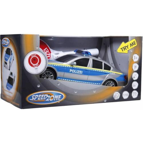 Polizeiauto mit Polizeikelle mehrfarbig