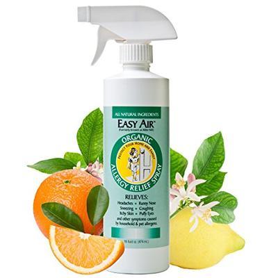 Easy Air Organic 16-oz. Allergy Relief Spray, 100% Organic Anti-Allergy Spray, Dust Mite Allergy Nat