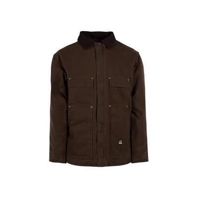 Berne Men's 6 XL Tall Bark 100% Cotton Original Washed Chore Coat, Brown