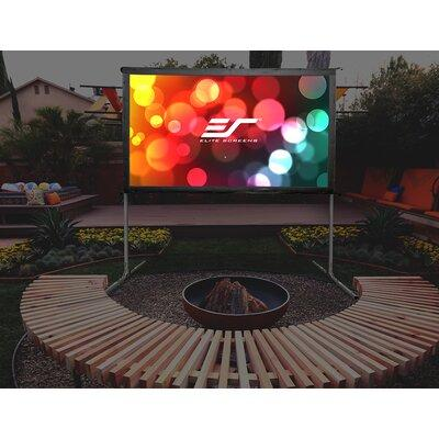 """Elite Screens Yard Master 2 White Portable Projection Screen OMS1 Viewing Area: 100"""" Diagonal"""