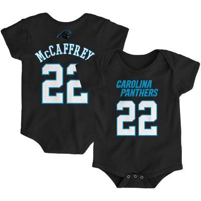 Newborn Christian McCaffrey Black Carolina Panthers Mainliner Name & Number Bodysuit, Infant Unisex,
