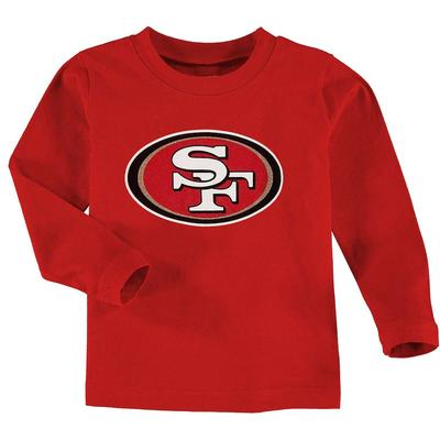 San Francisco 49ers Toddler Team Logo Long Sleeve T-Shirt - Scarlet, Toddler Boy's, Size: 4T, Red