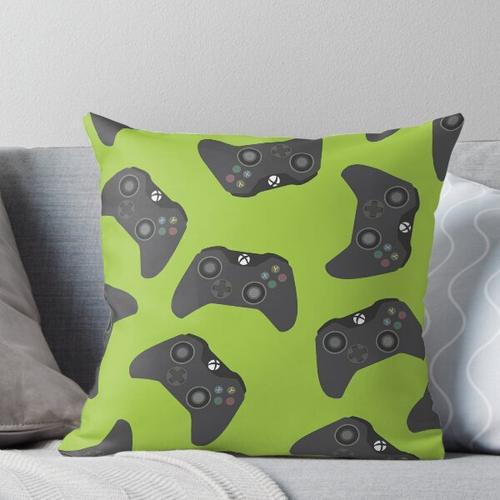 Controller One Joystick Throw Pillow