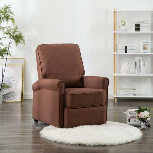 TV-Relaxsessel Stoff Braun