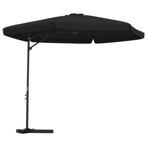 vidaXL Sonnenschirm mit Stahlmast 300 cm Schwarz