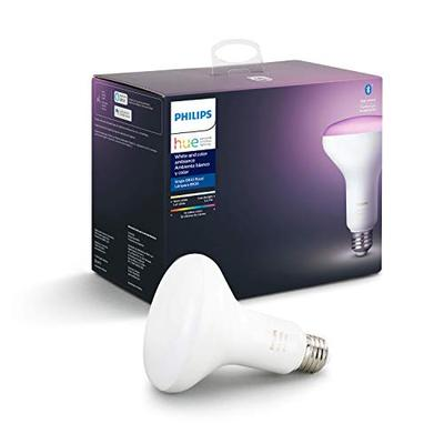 Philips Hue White and Color Ambiance BR30 LED Smart Bulb, Bluetooth & Zigbee compatible (Hue Hub Opt