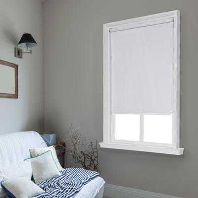 """Wide Width Cut-to-Width Spring Vinyl Roller Shade by Whole Space Industries in White (Size 39"""" W 64"""" L)"""