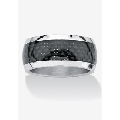 Men's Big & Tall Checkerboard Ring by PalmBeach Jewelry in Stainless Steel (Size 10)