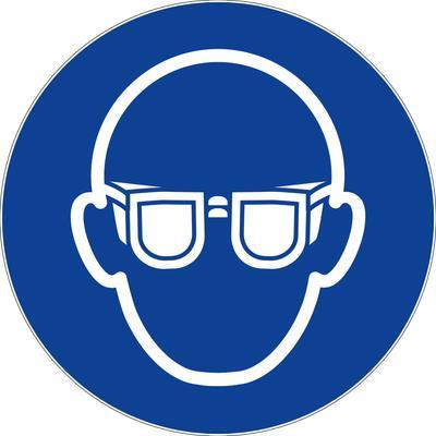Panneaux d'obligations ronds 300 mm ''Port de lunettes obligatoire'' - NOVAP - 4061603
