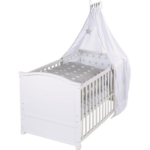 Kinderbett komplett Little Stars, weiß, 70 x 40 cm