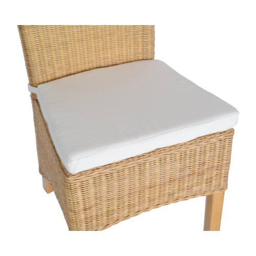 MiaMöbel Sitzkissen für Stuhl 100% Baumwolle Landhaus