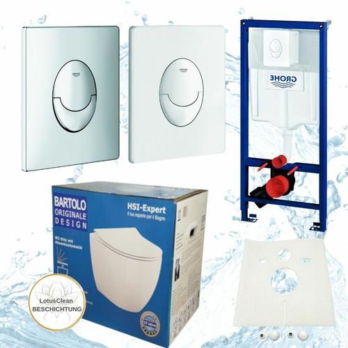 Rapid 3in1 + Bartolo WC + Drückerplatte + WC-Sitz Chom Slim - Grohe