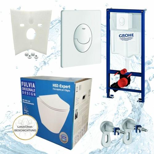 Rapid 3in1 + Fulvia WC + Drückerplatte + WC-Sitz Chrom - Grohe