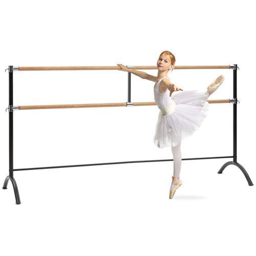 Barre Marie Doppel-Ballettstange, freistehend, 220 x 113 cm, 2 x 38mm Ø
