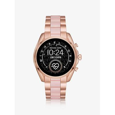 Michael Kors Access Bradshaw 2 Rose Gold-Tone And Acetate Smartwatch ONE SIZE