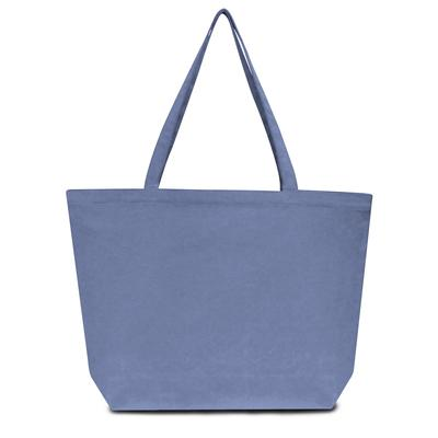Liberty Bags LB8507 Men's Seaside Cotton 12 oz. Pigment-Dyed Large Tote Bag in Blue Jean   Canvas