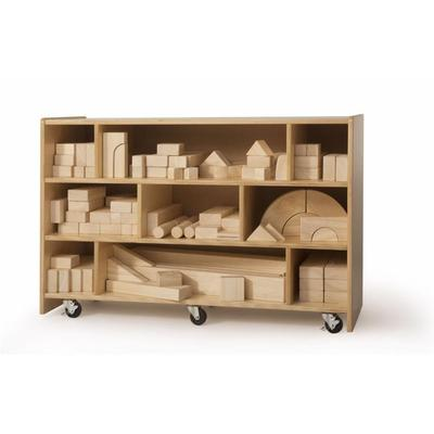 Whitney Brothers Set of 118 Intermediate Play Blocks with Smoothed Rounded Edges, WB0369