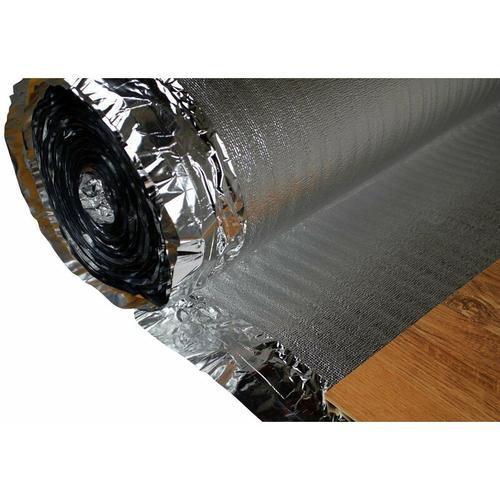 Trittschalldämmung - Dampfsperre   für Holzböden, Fußbodenheizung   Silver Plus:50 Quadratmeter, 3