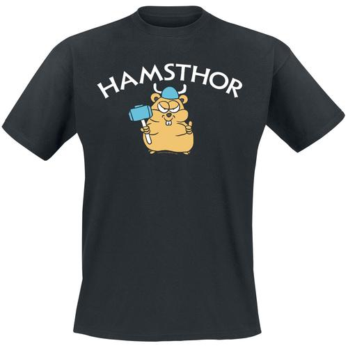 Hamsthor Herren-T-Shirt - schwarz