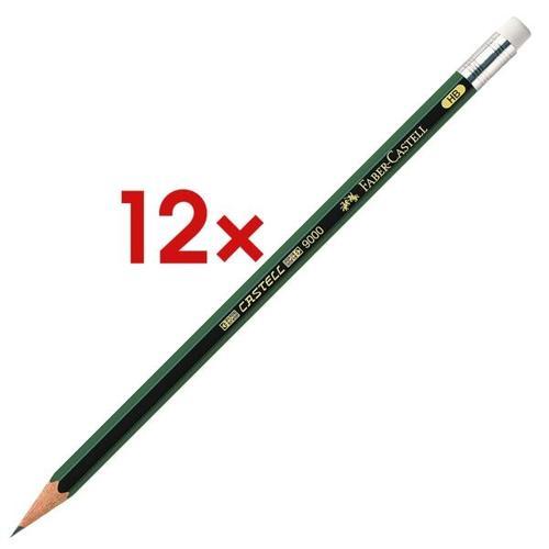 12x Bleistift »9000« mit Radiergummi, Faber-Castell