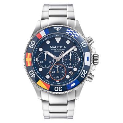 Nautica Men's Wesport Stainless Steel Bracelet Watch 44mm - Chrome
