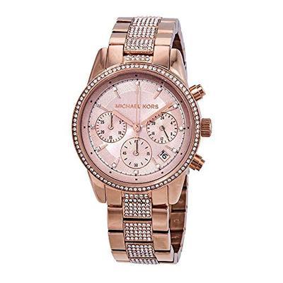 Michael Kors Ritz Pave Chronograph Crystal Ladies Watch MK6485