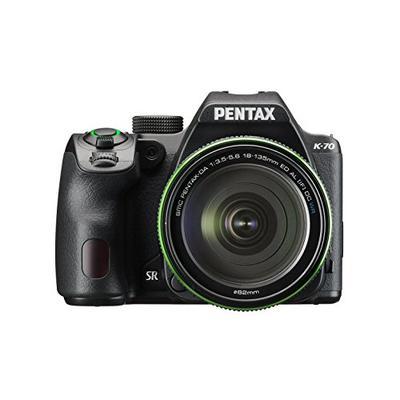 Pentax K-70 Weather-Sealed DSLR Camera with 18-135mm Lens (Black)