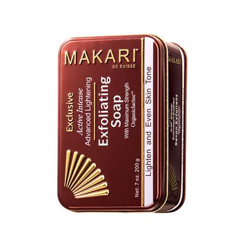 Makari Exclusive Seife zur Hautaufhellung - 200g Seife - Sanfte Peelingseife