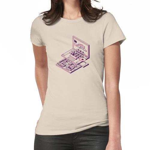 Laptop und Motherboard Frauen T-Shirt