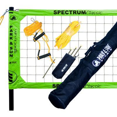 Park & Sun Spectrum Classic Professional Level Volleyball Net System Green