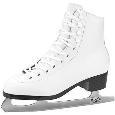 Leather Lined Girls Figure Skates by American White