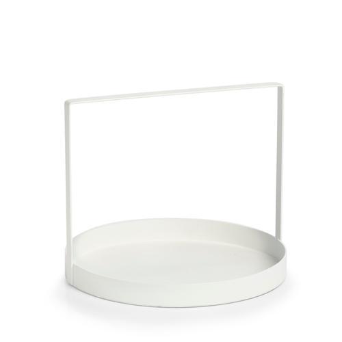 Zeller Present Tablett, Ø 24 cm weiß Tischaccessoires Geschirr, Porzellan Haushaltswaren Tablett