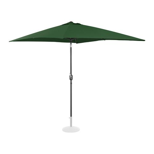 Uniprodo Sonnenschirm groß - grün - rechteckig - 200 x 300 cm - neigbar