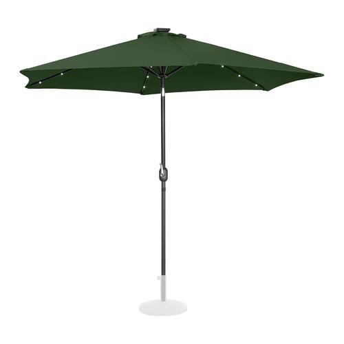 Uniprodo Sonnenschirm mit LED - grün - rund - Ø 300 cm - neigbar