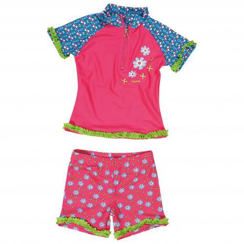 Playshoes - Kid's UV-Schutz Bade-Set Blumen - Lycra Gr 110/116;122/128;98/104 rosa