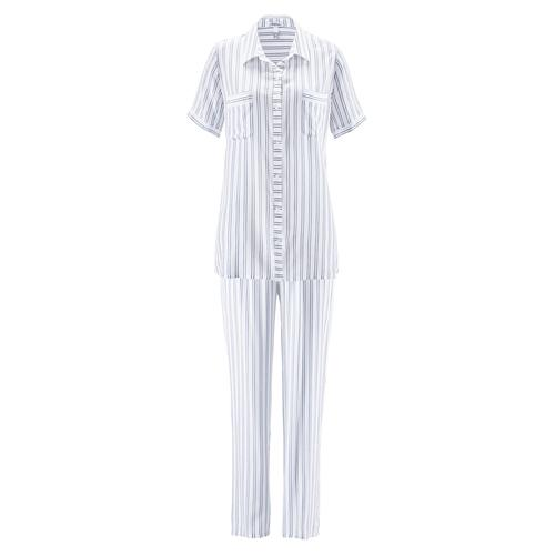 Avena Damen Schlafanzug Sommertraum Weiß
