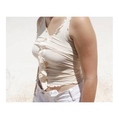 Baserange - Off White Cotton Rib Tacca Camisole - small