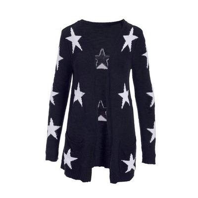 Boston Proper - Patriotic Star Cardigan - Navy/white - X Small