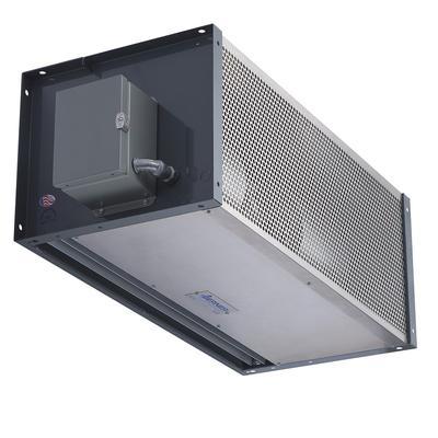 "Berner IDC12-4156E 156"" Heated Air Curtain - (1) Speed, Aluminum, 208v/3ph"