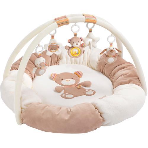 Fehn Spielbogen Rainbow 3-D-Activity-Nest, mit Nestchen braun Kinder Activity Center Trapeze Baby Kleinkind