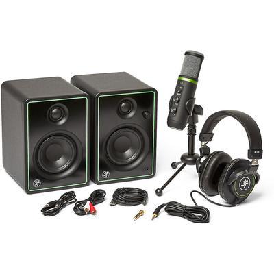 Mackie PodCast Creator Bundle w/USB mic, monitors, headphones