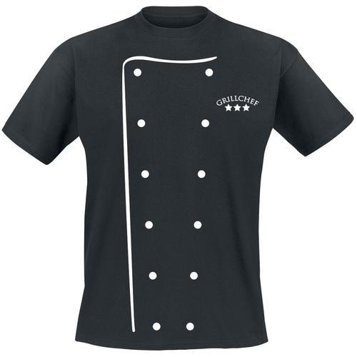 Grillchef Herren-T-Shirt - schwarz