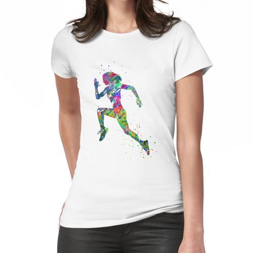 Laufende Frau, Jogger, Sport joggen Frauen T-Shirt