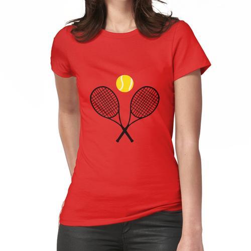 Tennis - Tennisschläger und Ball Frauen T-Shirt