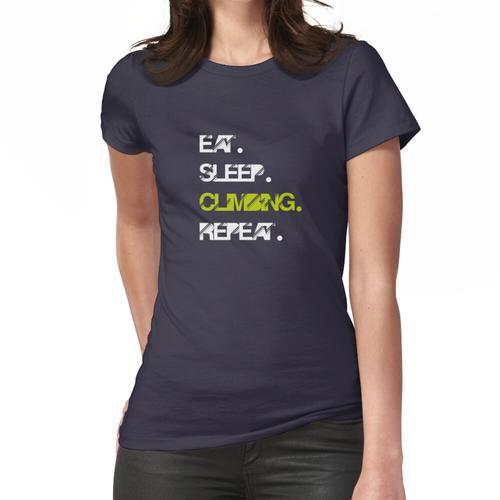 Eat Sleep Climbing Repeat Tshirt / Climbing Grades / Rock Climbing / Climb Gear / Mou Frauen T-Shirt