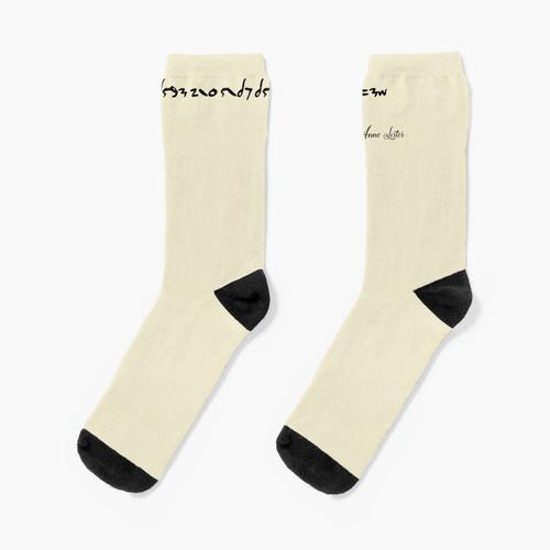 Ich liebe und liebe nur das gerechtere Geschlecht - Anne Lister - im Code Socken