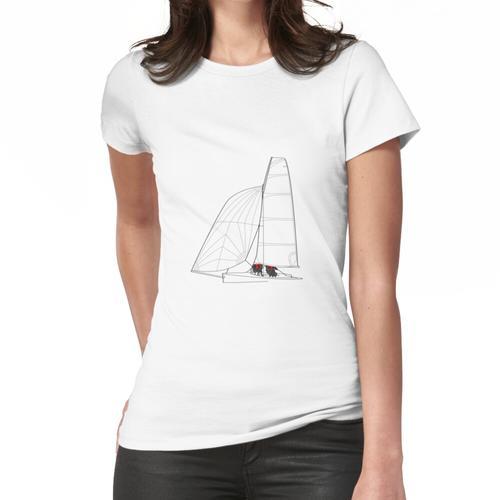 Segeln Schlauchboot Linie Art Frauen T-Shirt