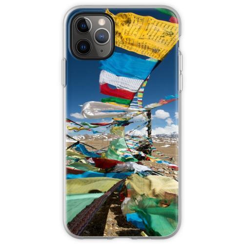 Betende Fahnen in Tibet Flexible Hülle für iPhone 11 Pro Max